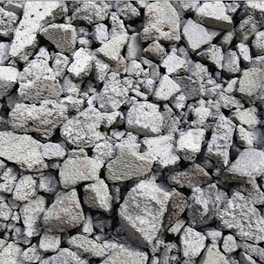 Close Up Image of Crushed Concrete Rock Construction Aggregate