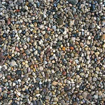 Close Up Image of Pea Gravel Construction Aggregate