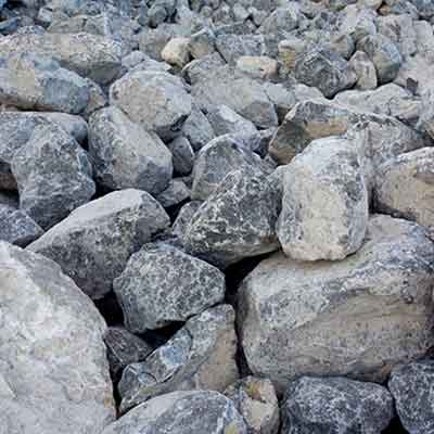 Close Up Image of Rip Rap Construction Aggregate